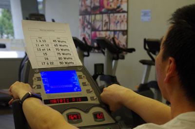 photo de cardio training sur ergocycle