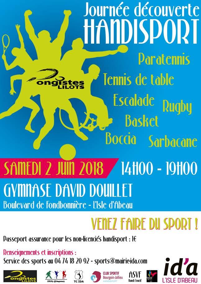 Affiche Journée Handisport Isle d'Abeau