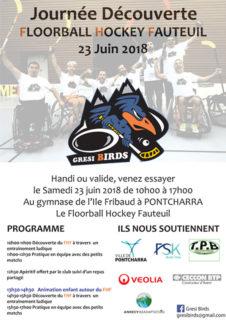 Le Club Gresi Birds organise une journée découverte de Hockey Fauteuil le samedi 23 juin 2018 à Pontcharra