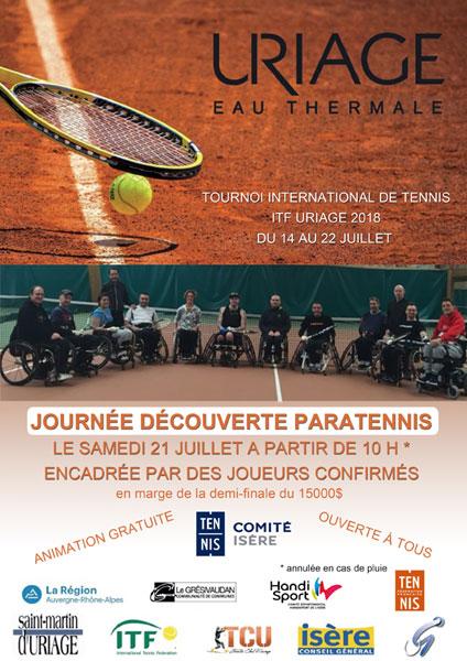 Affiche découverte para tennis Uriage