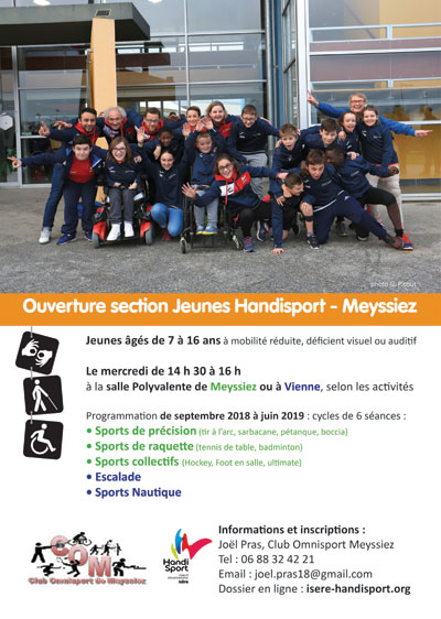 Affiche Handisport Jeunes Nord-Isère