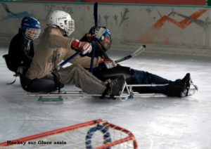 Hockey luge