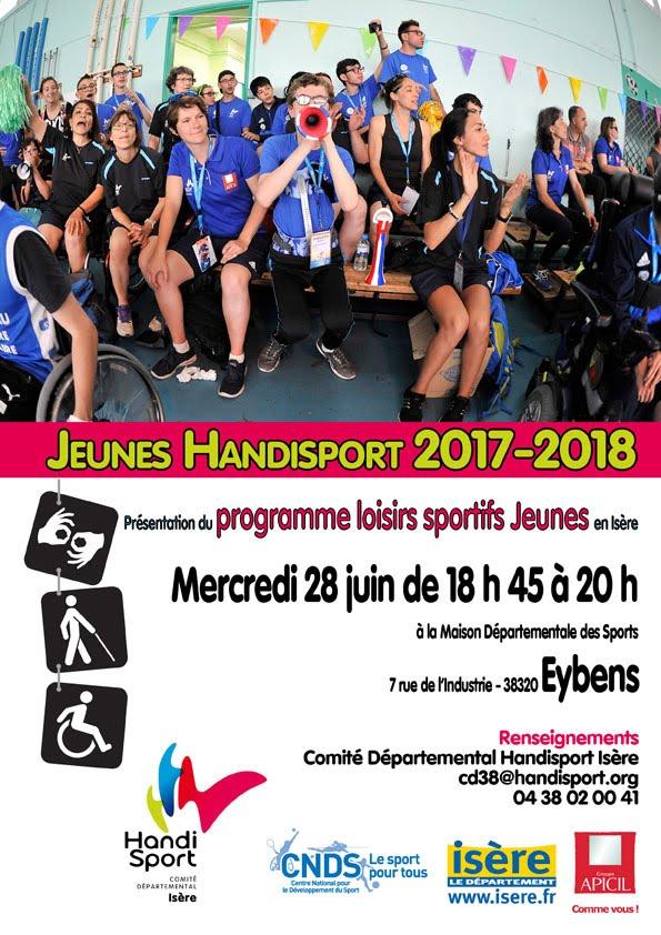 Programme loisirs sportifs jeunes Handisport 2017-2018