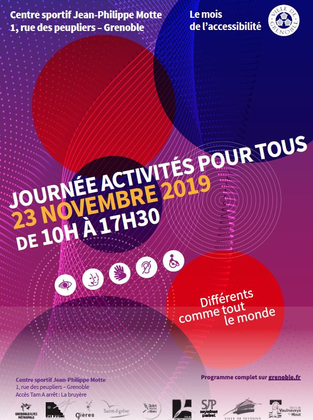 Journée sportive activités pour tous 23 novembre 2019