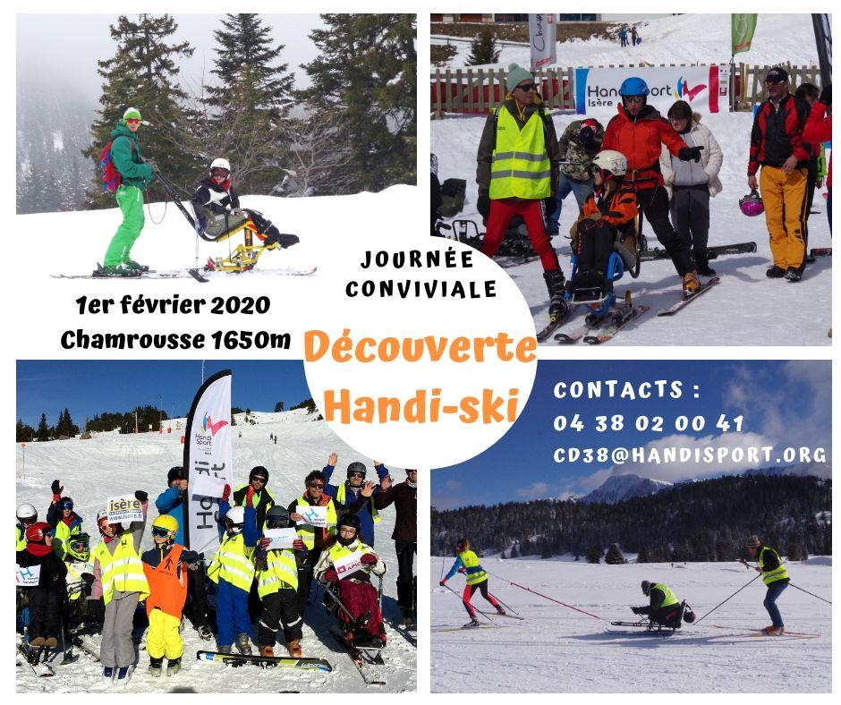 Journée HANDI-SKI –  Chamrousse 1650 – 1er février 2020