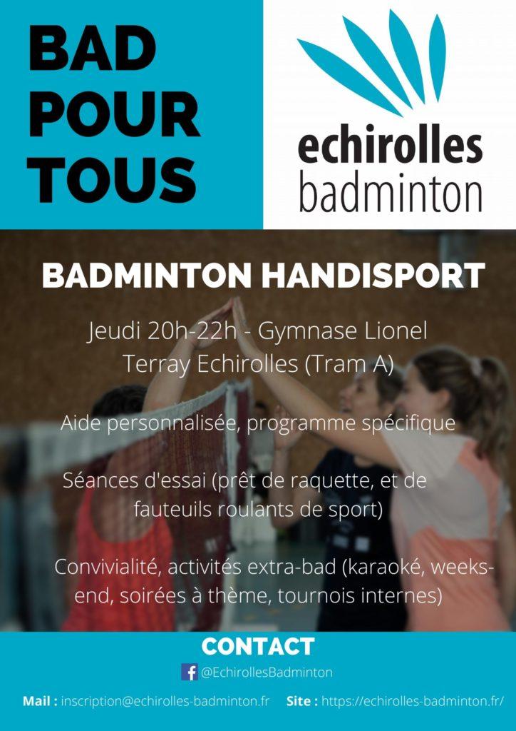 AFFICHE Échirolles Badminton