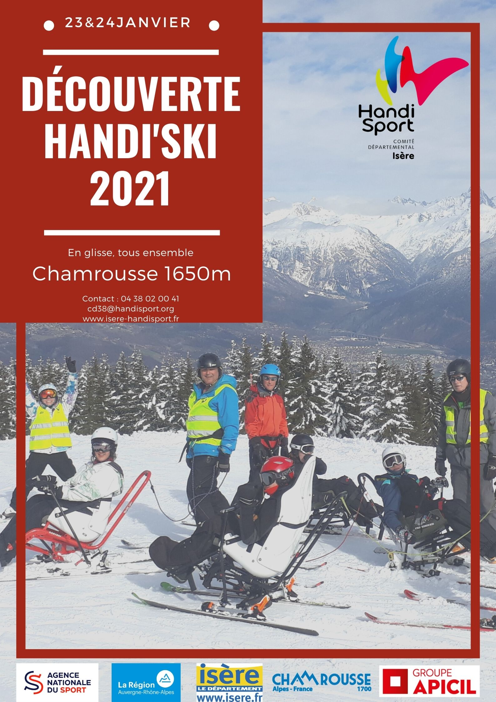 Annulé – Week-end Handi-Ski – Chamrousse- 2021