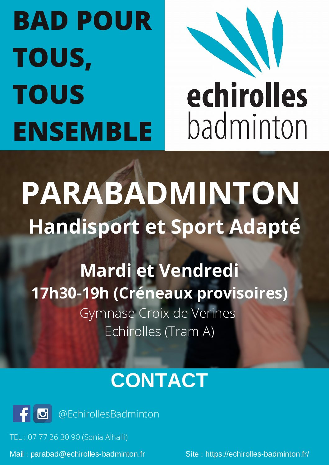 Badminton pour tous à Echirolles